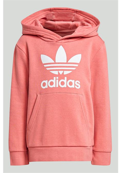 Pink jumpsuit, hoodie wth maxi logo in contrast, trousers with elastic cuffs. Baby model. Brand: Adidas ADIDAS | Suit | GN8207.