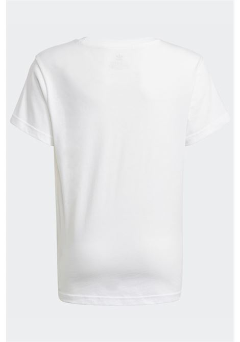 White baby t-shirt with logo print on the front adidas ADIDAS | T-shirt | GN8213.