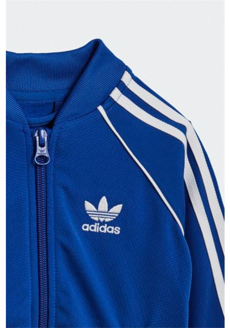 Jumpsuit in solid color sweatshirt with full zip, ribbed hems ADIDAS | Suit | GN8438.