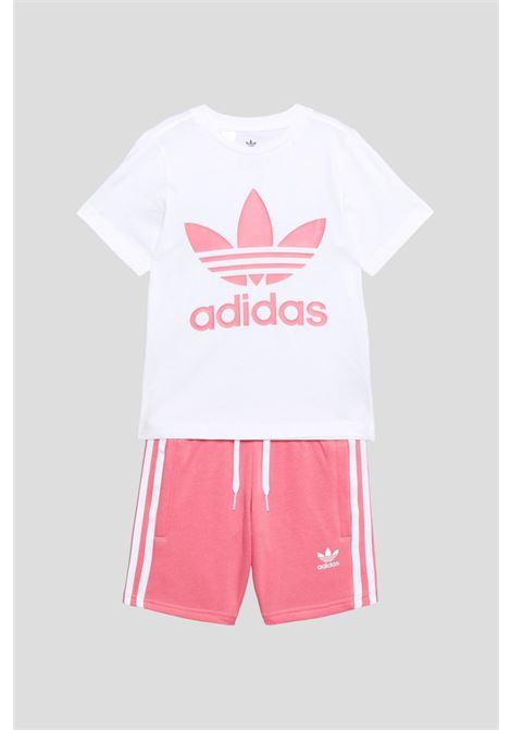 White pink baby suit adidas ADIDAS | Kit | GP0195.