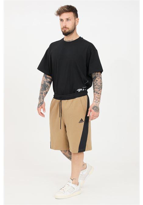 Beige men's recycled cotton shorts adidas ADIDAS | Shorts | GP8661.
