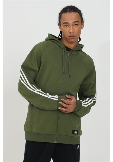 Hoodie in solid color, zip closure ADIDAS | Sweatshirt | GQ6205.