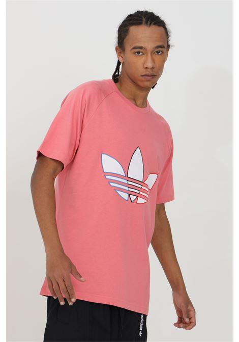 T-shirt tinta unita con logo a contrasto ADIDAS | T-shirt | GQ8916.