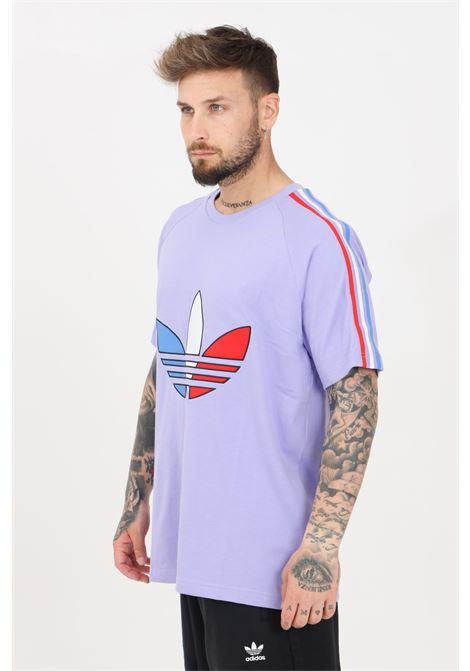 Lilac men's adicolor tricolor t-shirt short sleeve adidas ADIDAS | T-shirt | GQ8922.