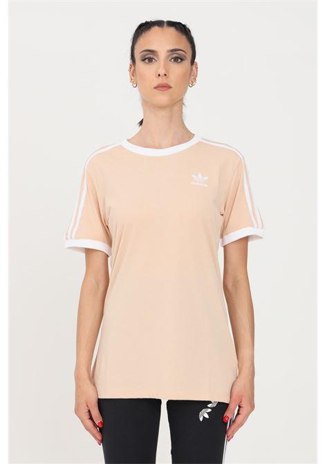 T-shirt donna rosa adidas a manica corta con bande a contrasto ADIDAS | T-shirt | GT4262.