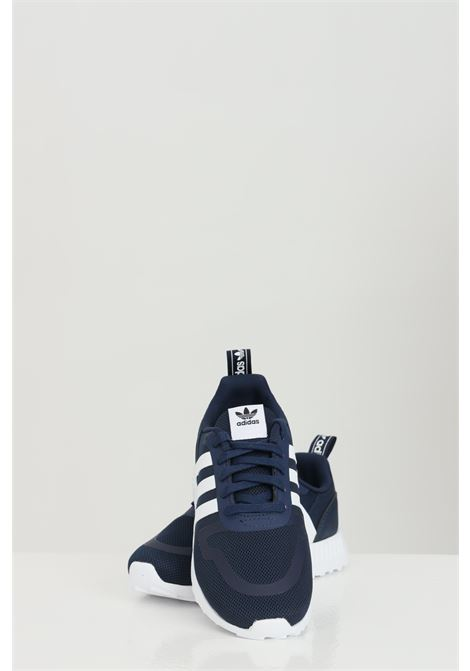 Blue MULTIX C sneakers in solid color with contrasting sole and side bands, closure with laces. Baby model. Brand: Adidas ADIDAS | Sneakers | GZ8455.
