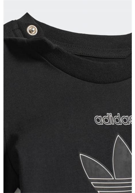 Completino neonato nero blu adidas con stampa trifoglio ADIDAS | Completini | H25237.
