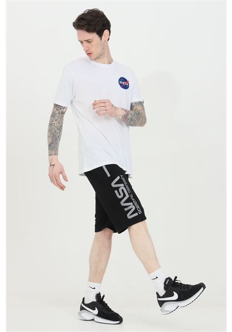 Black shorts with elastic waistband and laces, side zip pockets and print. Alpha industries ALPHA INDUSTRIES | Shorts | 12633603