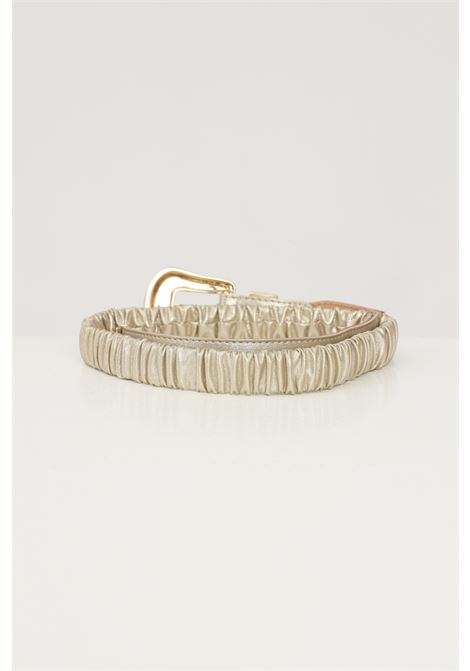 Gold women's belt with tone on tone buckle argento antico  ARGENTO ANTICO | Belt | AA1615ORO
