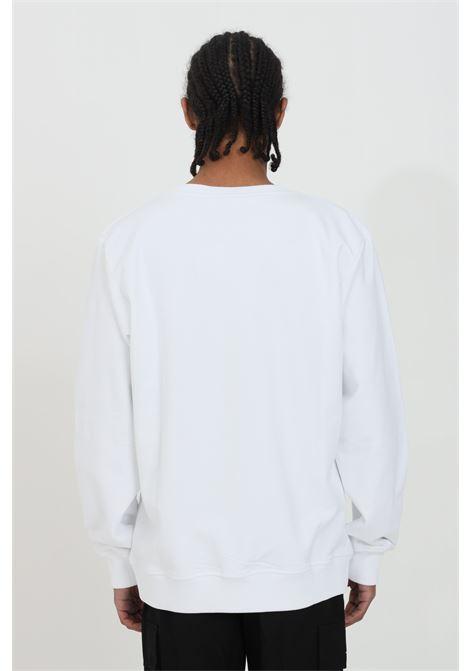 Felpa uomo bianco Australian girocollo con stampa frontal.Modello comodo con elastico sul fondo AUSTRALIAN | Felpe | HCUFE0017002