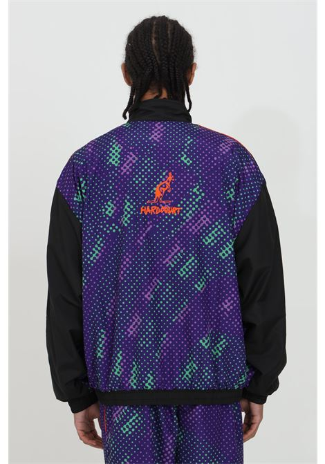 Giacca a vento uomo nero Australian con zip e stampa a pois fantasy.Tasche laterali e rete interna AUSTRALIAN | Giubbotti | HCUGC0006003