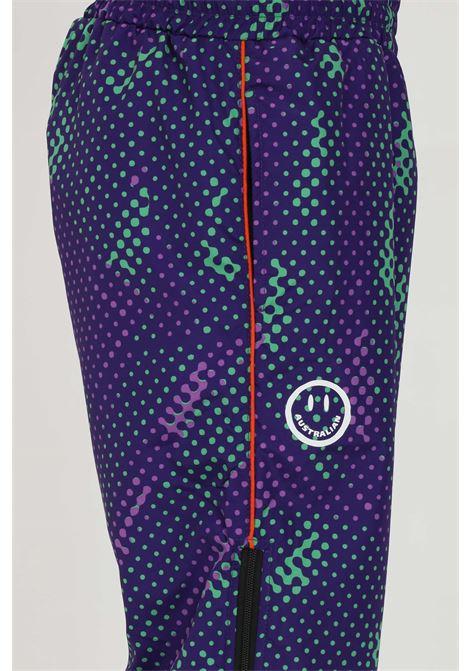 Pantalone uomo multicolore Australian casual con molla in vita.Mezza zip laterale.Stampa a pois AUSTRALIAN | Pantaloni | HCUPA0008003