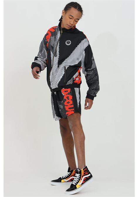 Shorts uomo nero Australian con stampa pois e molla in vita.Senza tasche e chiusura con lacci AUSTRALIAN | Shorts | HCUSH0001003