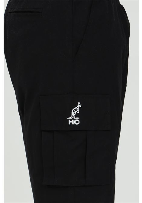 Shorts uomo nero casual  Australian con molla in vita.Tasconi laterali,logo laterale AUSTRALIAN | Shorts | HCUSH0002003