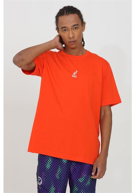 T-shirt uomo lavagna Australian a manica corta con stampa sul retro. Modello comodo tinta unita AUSTRALIAN | T-shirt | HCUTS0008149
