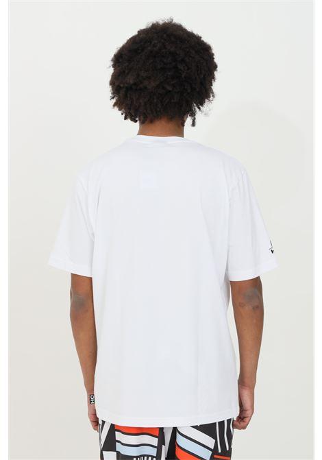 T-shirt uomo bianco Australian a manica corta e logo frontale AUSTRALIAN | T-shirt | HCUTS0013002