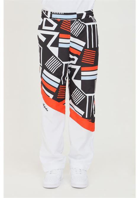 Pantaloni uomo bianco Australian con stampa allover e vita elastica.Pantalone in tessuto smash superleggero. Fodera in rete per una maggio traspirabilità AUSTRALIAN | Pantaloni | SWDPA0007002