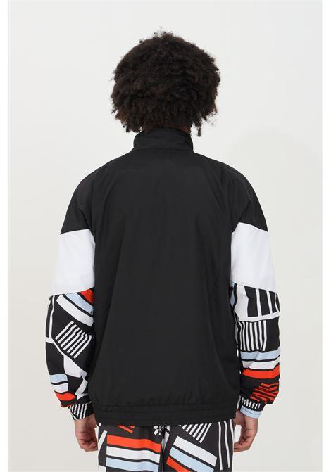 Felpa uomo nero Australian con zip e stampa allover AUSTRALIAN | Felpe | SWUGC0011003