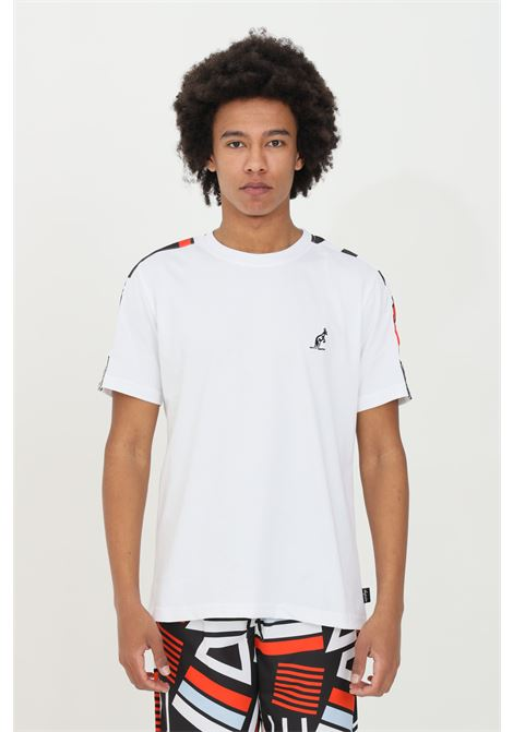 White t-shirt sleeve  with logo printed on the sleeves.Australian AUSTRALIAN | T-shirt | SWUTS0014002