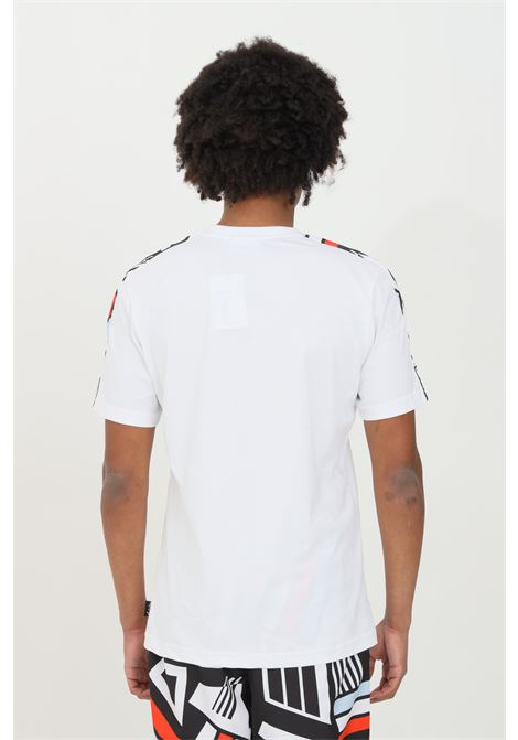 T-shirt uomo bianco Australian a manica corta con stampa sulle maniche AUSTRALIAN | T-shirt | SWUTS0014002