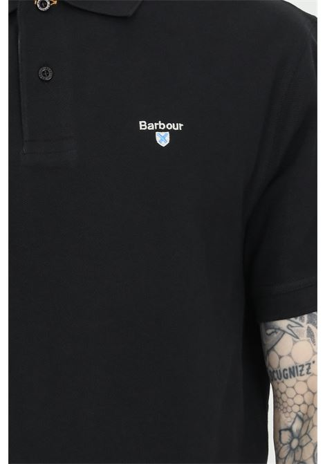 Tartan pique polo shirt with buttons BARbour | Polo Shirt | MML0012-MMLBK31