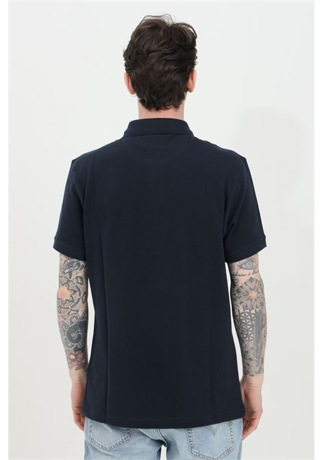 Polo uomo blu barbour modello classico con bottoni e logo frontale. Regular fit BARbour | Polo | MML0914-MMLNY39