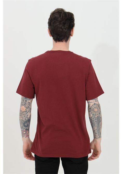 T-shirt uomo bordeaux barbour a manica corta con logo frontale a contrasto BARbour | T-shirt | MTS0331-MTSRE53