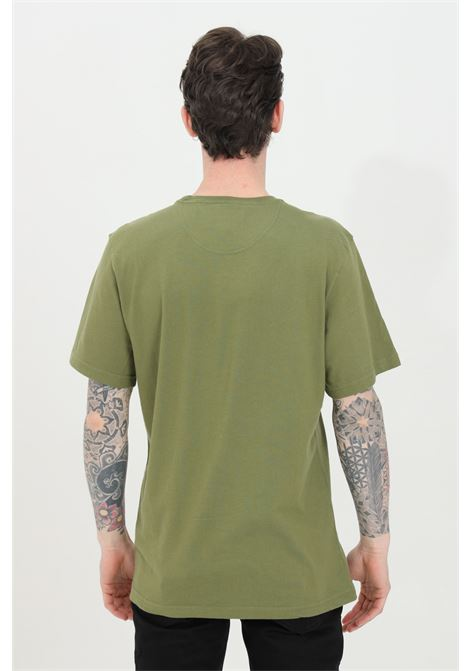 T-shirt uomo verde barbour a manica corta con logo frontale a contrasto BARbour | T-shirt | MTS0502-MTSOL39