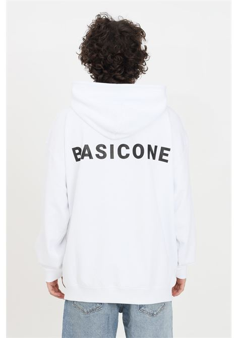 Felpe unisex bianco basic one con cappuccio e lacci BASIC ONE | Felpe | BSC1H1BIANCO