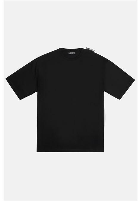 Black unisex t-shirt with short sleeve. Basic one BASIC ONE | T-shirt | BSC1T3NERO
