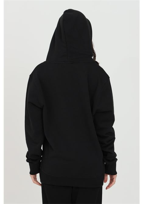 Black unisex hoodie with maxi front print and metal details. Over fit in solid color. Elastic hems with ribs.Bhmg BHMG | Sweatshirt | 028322023