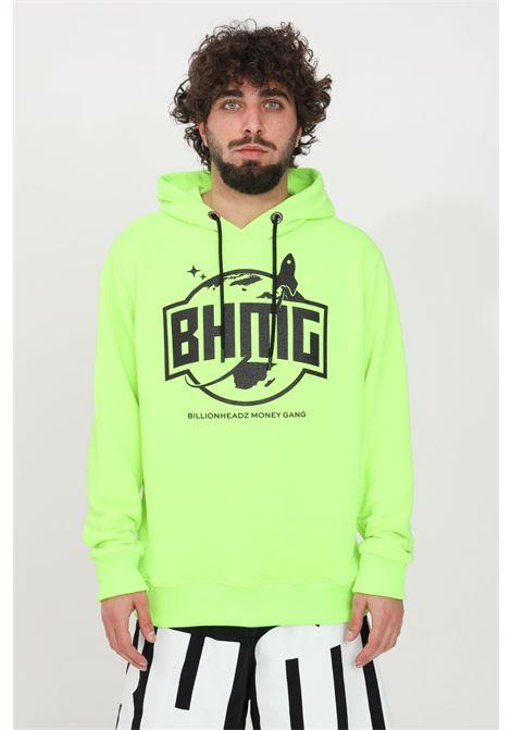 Felpa unisex verde fluo Bhmg con cappuccio BHMG | Felpe | 028322110