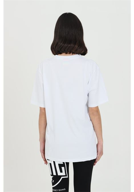 White t-shirt with maxi print,short sleeve. Straight bottom.Bhmg BHMG | T-shirt | 028328001