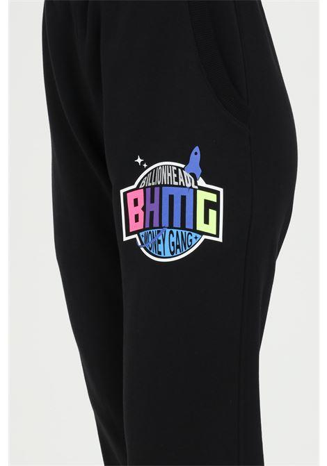 Pantalone unisex nero Bhmg casual  tuta con elastico in vita BHMG | Pantaloni | 028329110