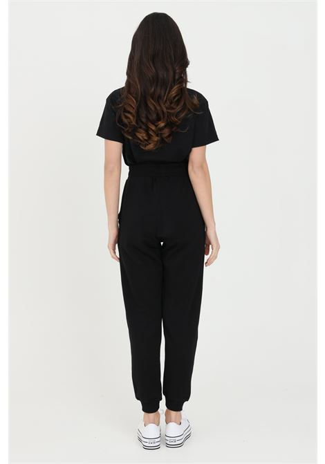 Black trousers with elastic waist casual jumpsuit.Bhmg BHMG | Pants | 028329110