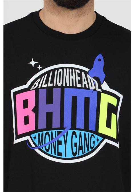 Black t-shirt with multicolor print,short sleeve.Bhmg BHMG | T-shirt | 029036110