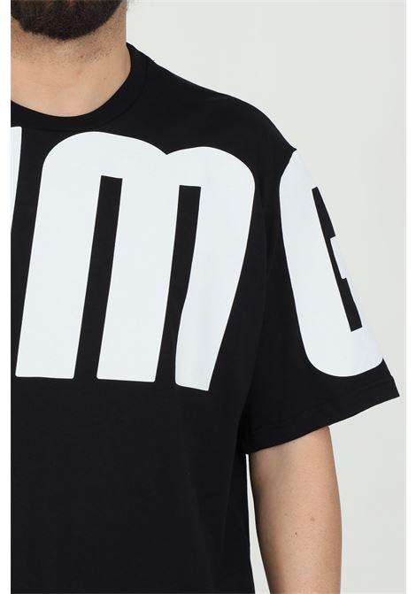Black t-shirt with maxi print,shorts sleeve.Bhmg BHMG | T-shirt | 029045110