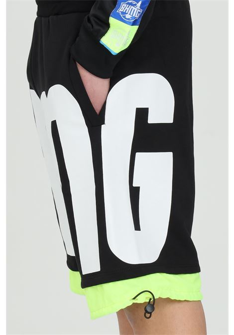 Shorts con maxi stampa e vita elasticizzata BHMG | Shorts | 029046110-28