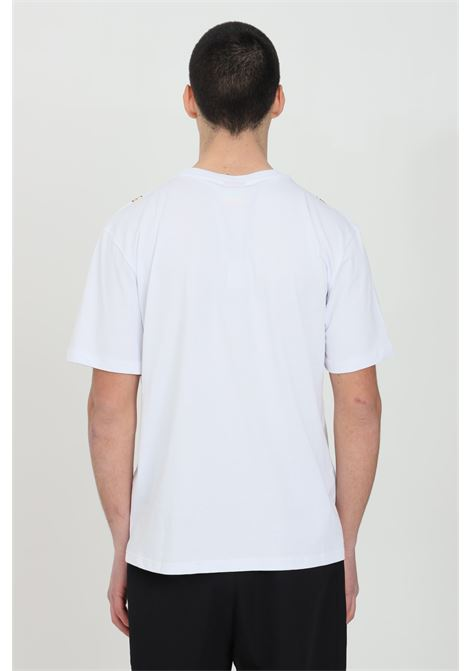 White t-shirt  with short sleeves and print on the front.Basic model with round neck and solid color. Straight bottom.Bhmg BHMG | T-shirt | 029109001