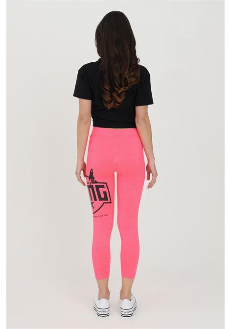 Leggings donna fucsia bhmg a vita alta con stampa laterale a contrasto BHMG | Leggings | 029123134