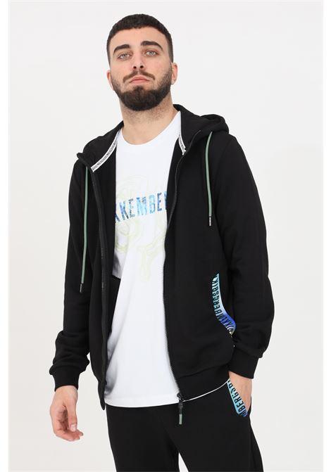 Black hoodie with front zip. Bikkembergs  BIKKEMBERGS | Sweatshirt | C304680M3875C74