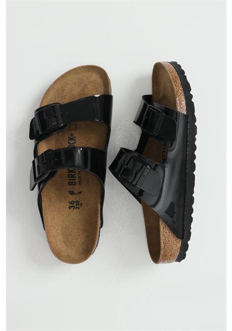 Arizona BS Black Patent slippers with adjustable bands BIRKENSTOCK | Slipper | 1005292BLACK