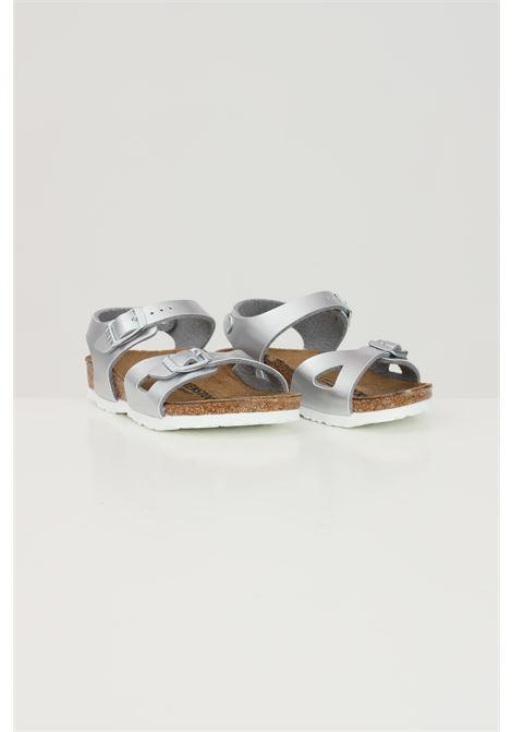 Silver baby Rio Kids Electric Metallic Silver sandals. Birkenstock  BIRKENSTOCK | Sandal | 1012518.