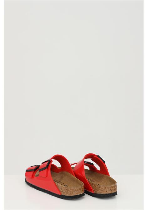Ciabatte ARIZONA BS PATENT CHERRY donna rosso birkenstock con fibbie regolabili BIRKENSTOCK | Ciabatte | 1019426.