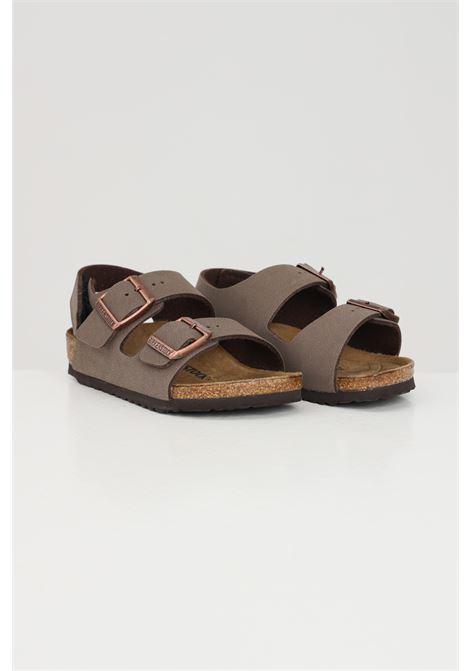Brown baby milano hl kids slippers birkenstock BIRKENSTOCK | Sandal | 1019600.