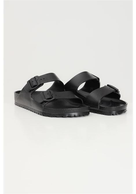 Black arizona eva slippers with adjustable straps. Birkenstock  BIRKENSTOCK | Slipper | 129421.
