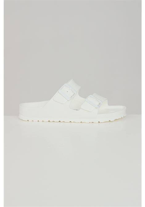White unisex arizona slippers birkenstock  BIRKENSTOCK | Slipper | 129443.