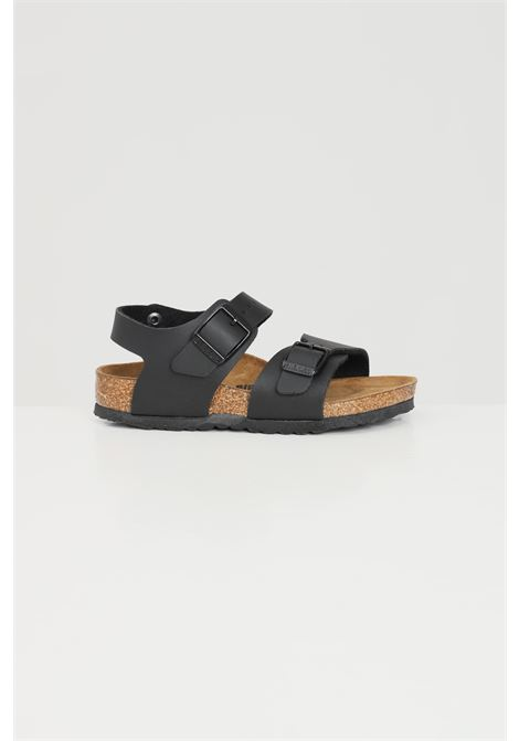 Black baby new york kids slippers birkenstock BIRKENSTOCK | Sandal | 187603.