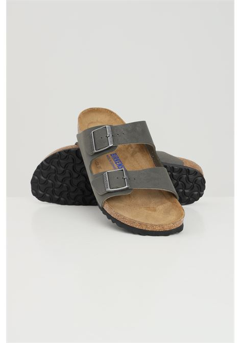 Grey men's arizona sbf emerald green slippers birkenstock  BIRKENSTOCK | Slipper | 452313.