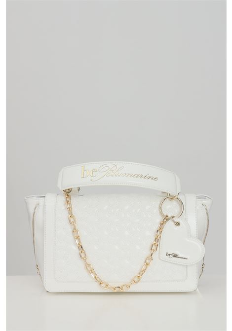 White bag with removable shoulder strap and eco-leather handles. Zip closure and internal compartments with zip. Blumarine Blumarine | Bag | E17WBBB570801003